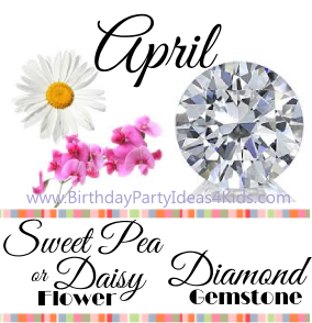 April birthday's gemstone and birthday flower