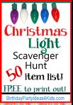 Christmas Light ScavengerHunt